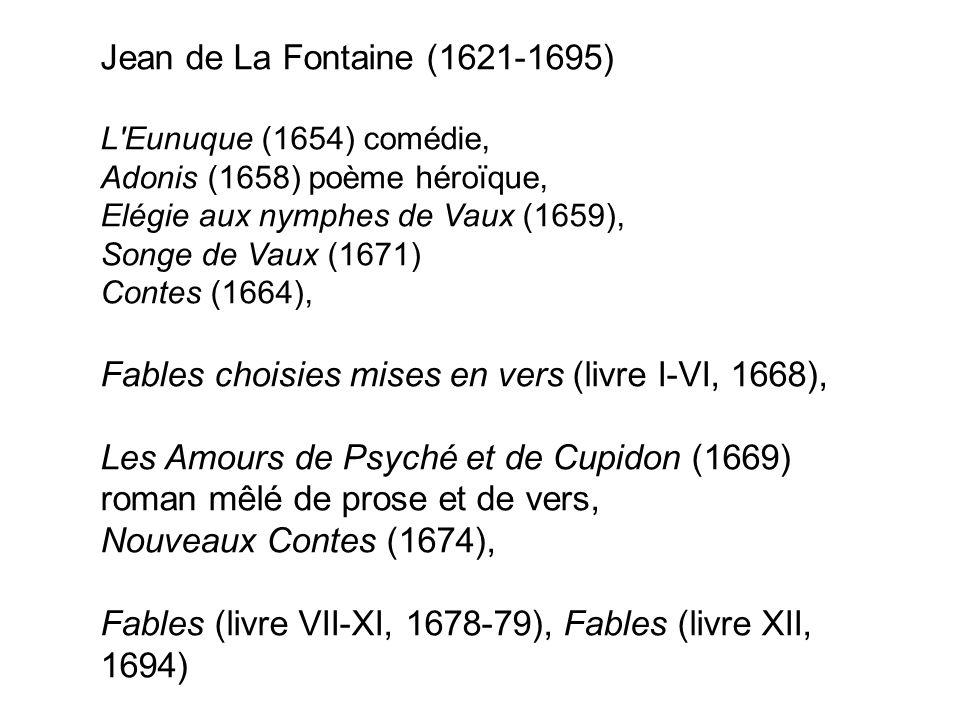 1 Lœuvre De Jean De La Fontaine Remarques Préliminaires