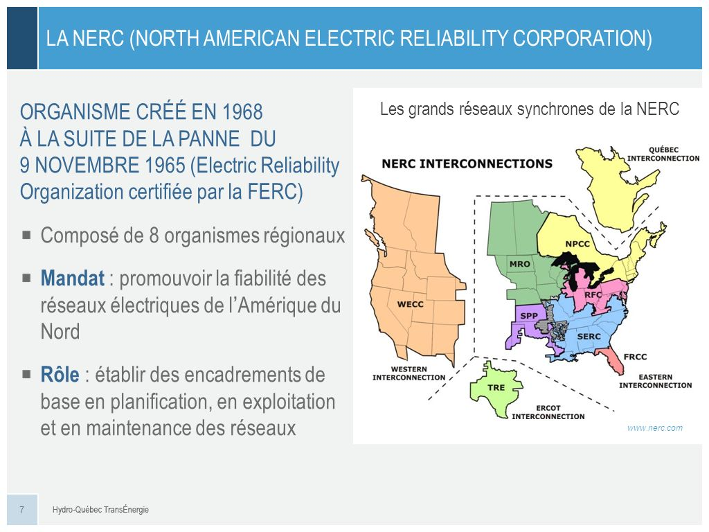 La NERC (North American Electric Reliability Corporation)