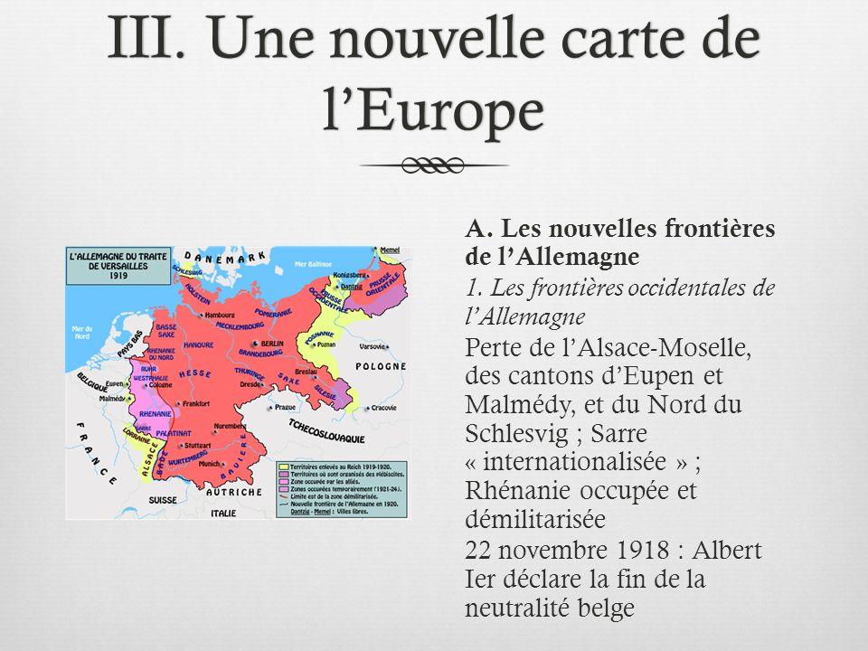 Carte De Leurope Occupee.L Europe Du Traite De Versailles Ppt Telecharger