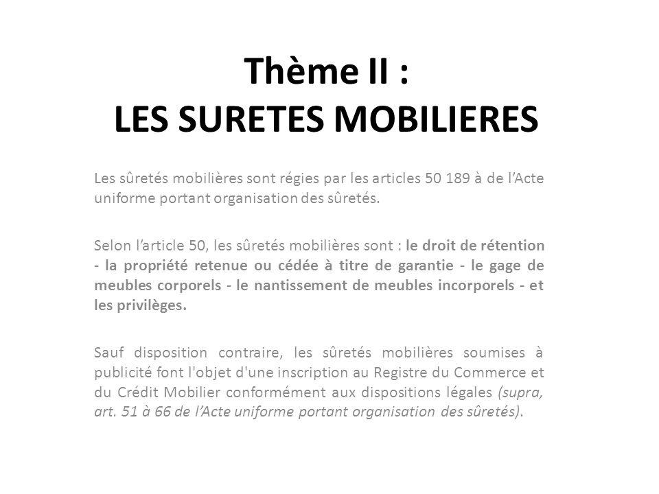 Theme Ii Les Suretes Mobilieres Ppt Telecharger