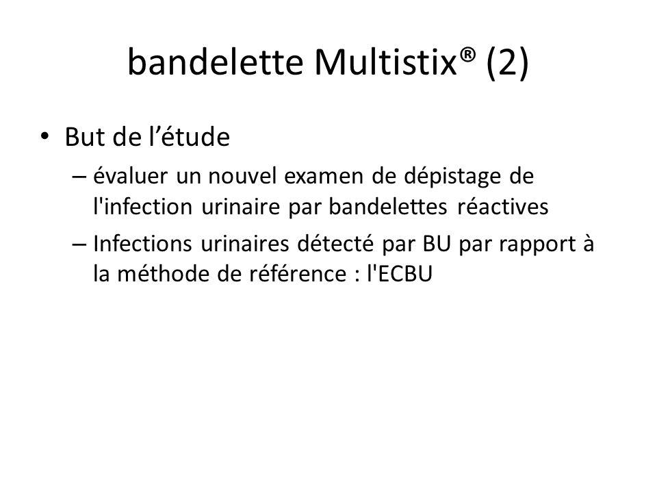 bandelettes urinaires multistix