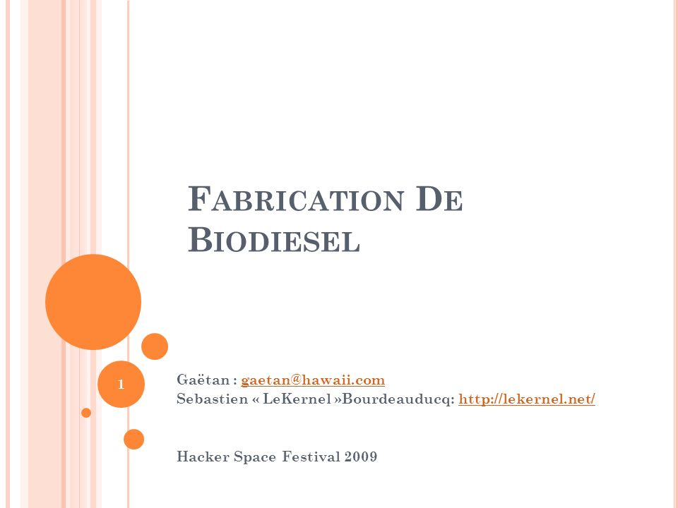 Fabrication De Biodiesel