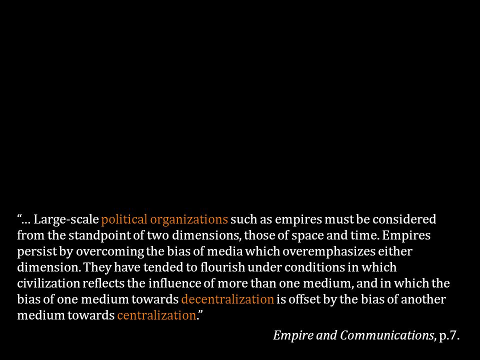 Empire and Communications, p.7.
