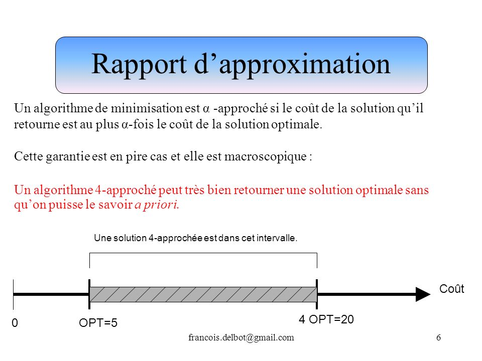 Rapport d'approximation