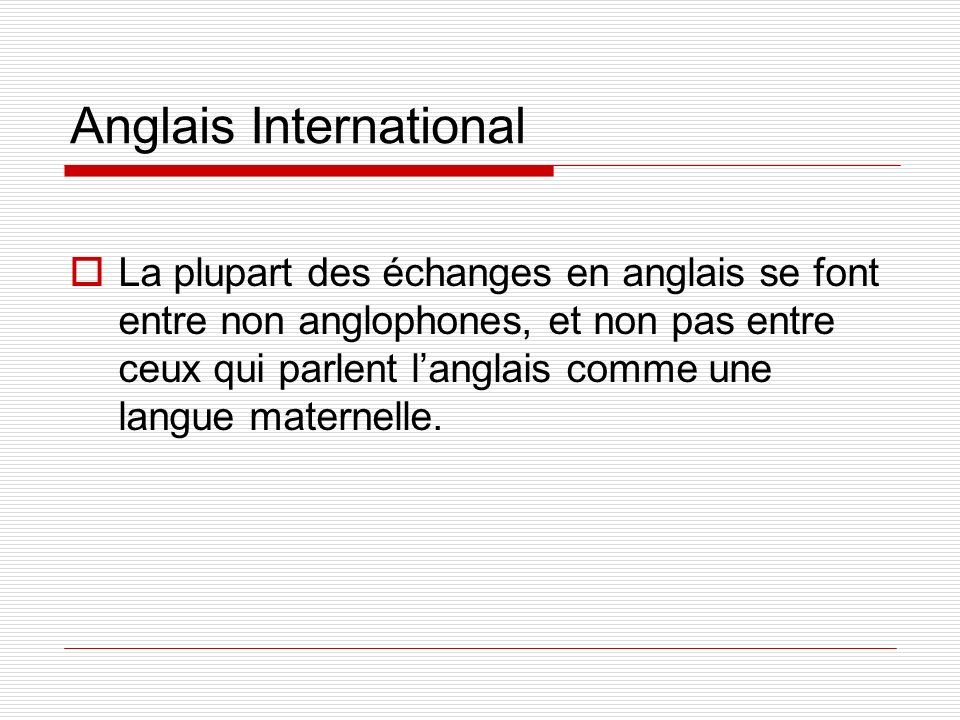Anglais International