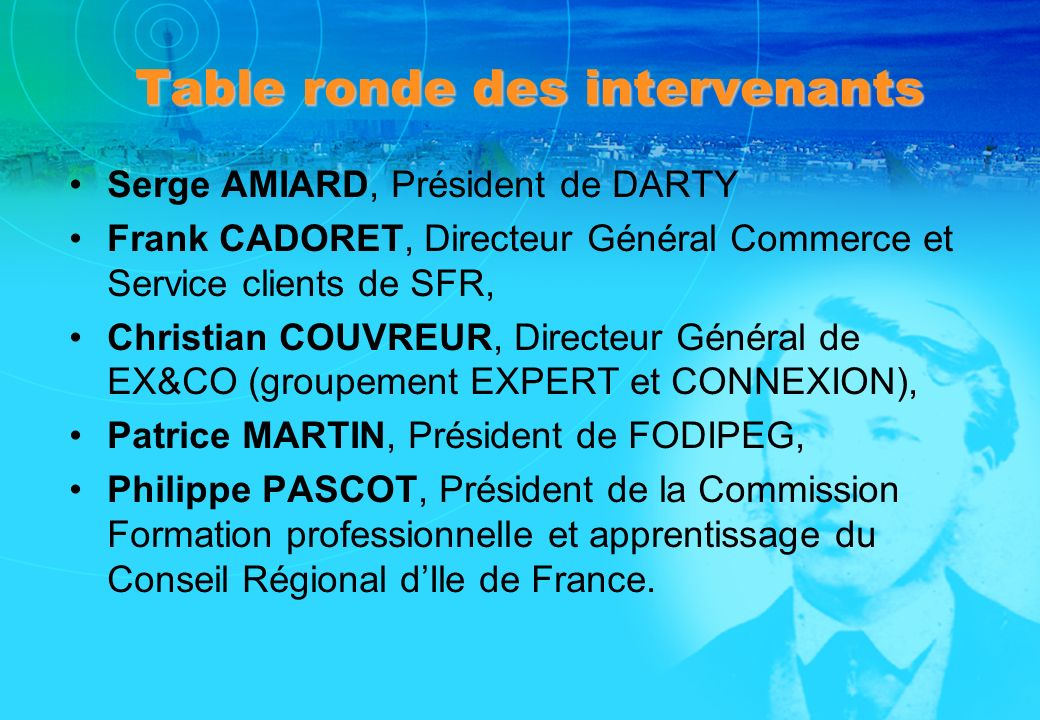 Table ronde des intervenants