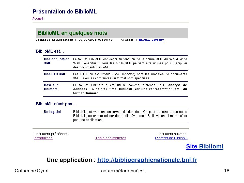 Une application :