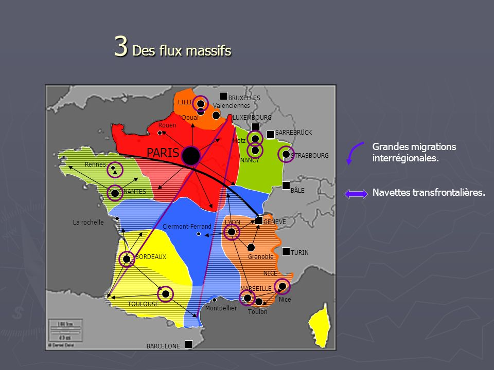 3 Des flux massifs PARIS Grandes migrations interrégionales.