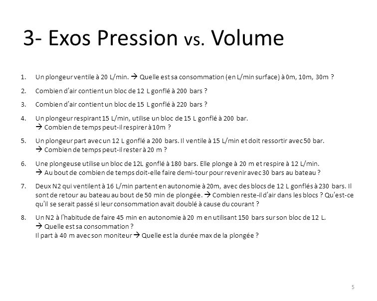 3- Exos Pression vs. Volume