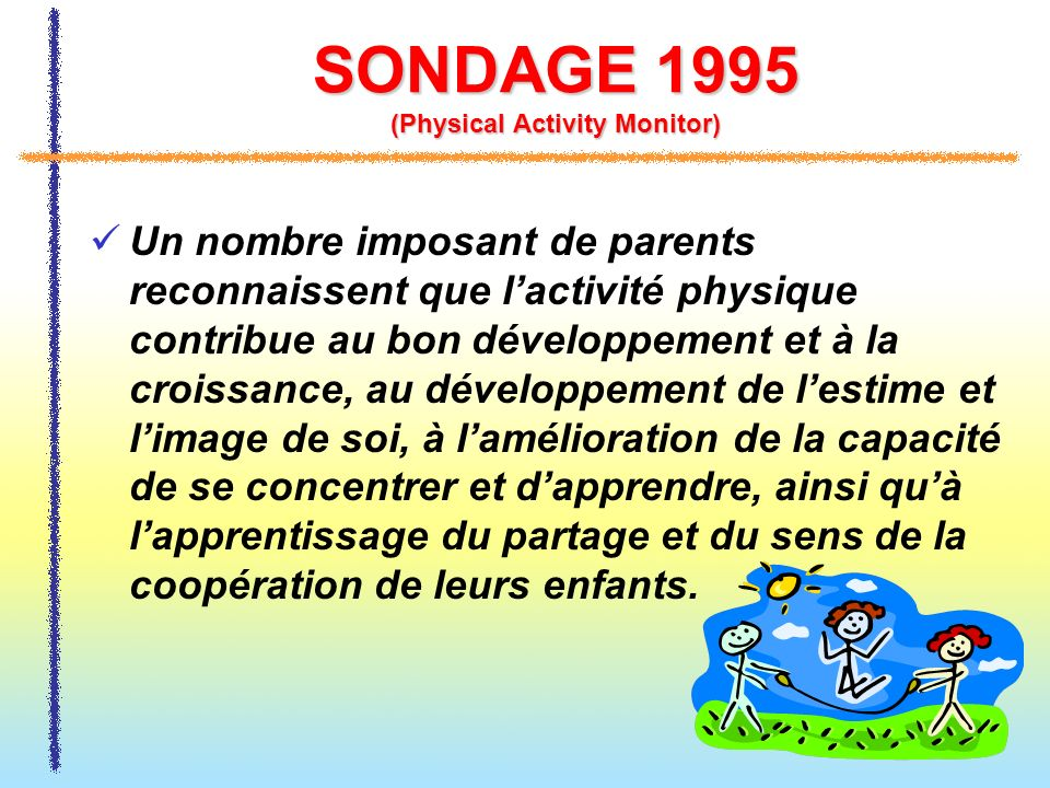 SONDAGE 1995 (Physical Activity Monitor)