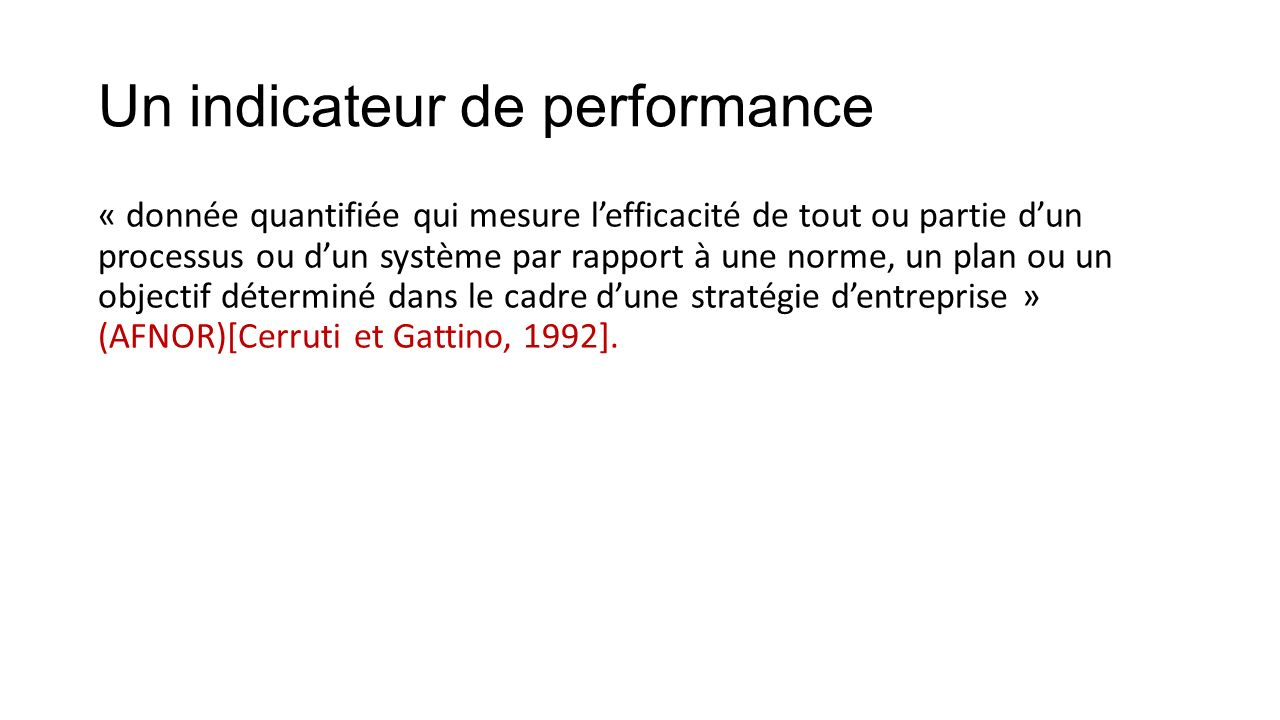 Techniques D Evaluation De La Performance D Un Systeme De