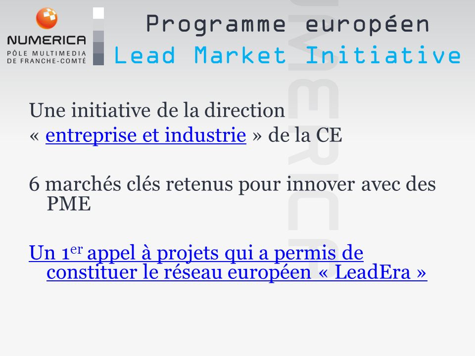 Programme européen Lead Market Initiative
