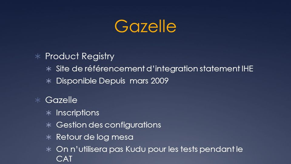 Gazelle Product Registry Gazelle
