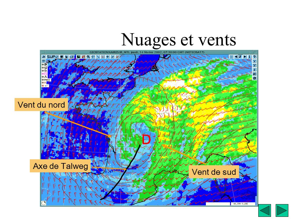 Anticyclone d pression a d front chaud occlusion isobare - Nuage et vent ...