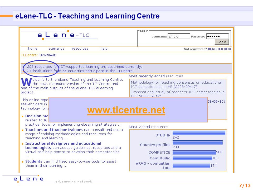 eLene-TLC - Teaching and Learning Centre