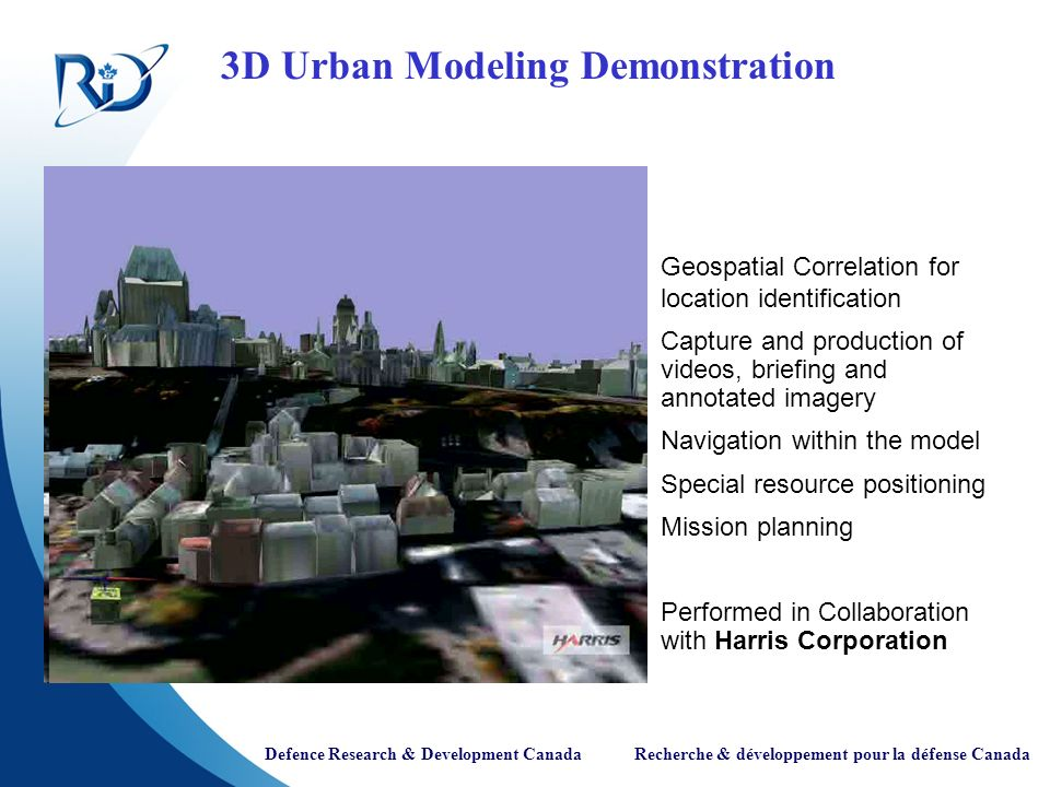 3D Urban Modeling Demonstration