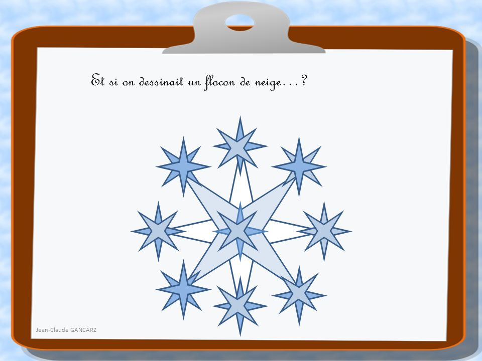Et si on dessinait un flocon de neige…