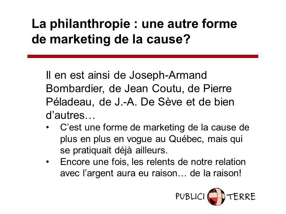 La philanthropie : une autre forme de marketing de la cause