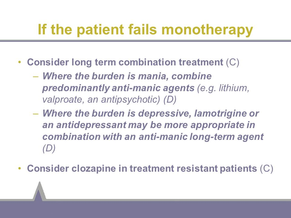If the patient fails monotherapy