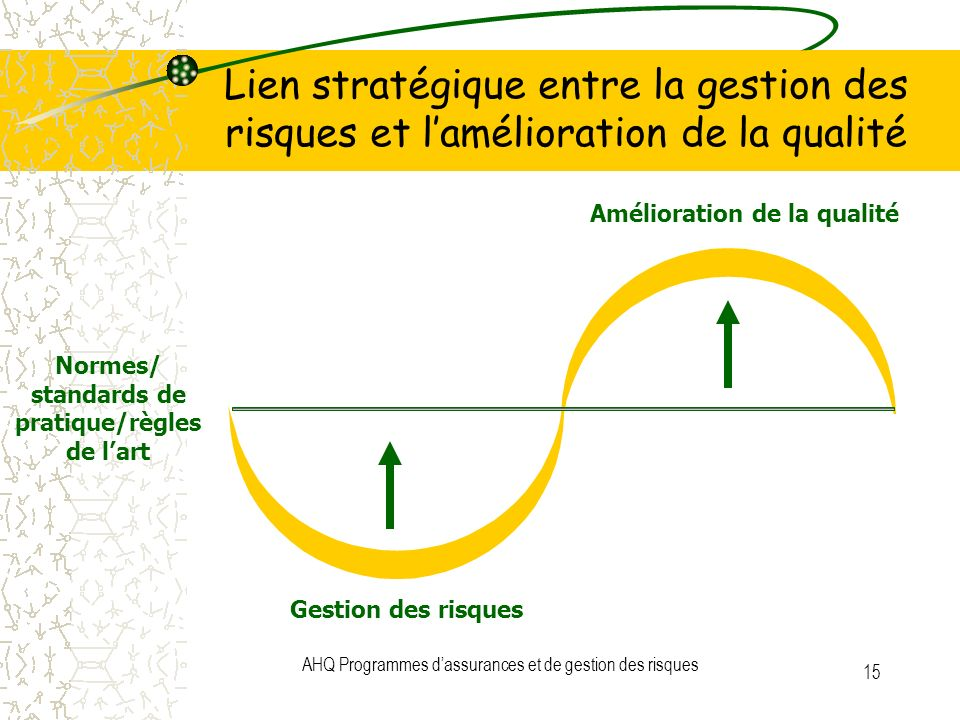 Normes/ standards de pratique/règles de l'art