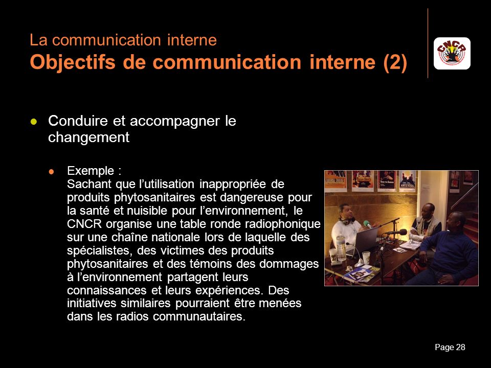 La communication interne Objectifs de communication interne (2)