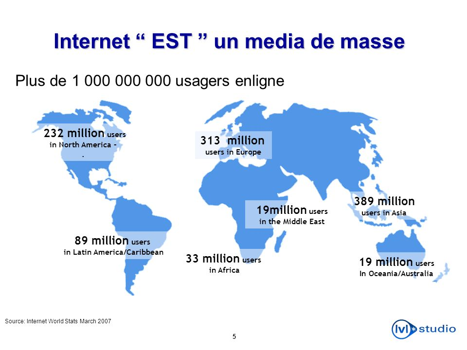 Internet EST un media de masse