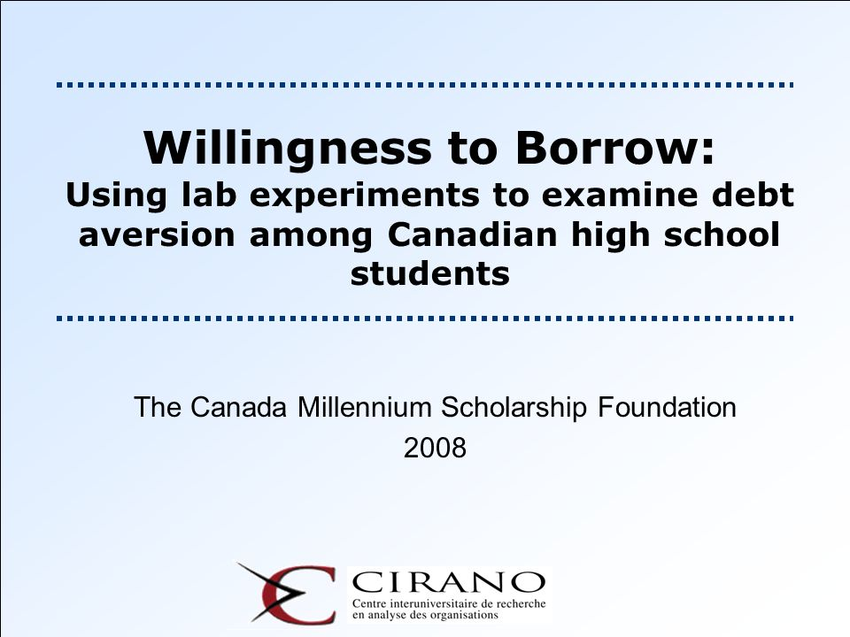 The Canada Millennium Scholarship Foundation 2008