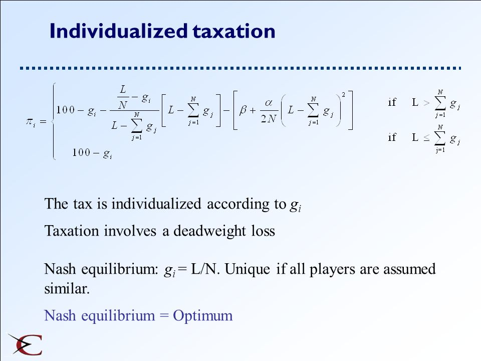 Individualized taxation