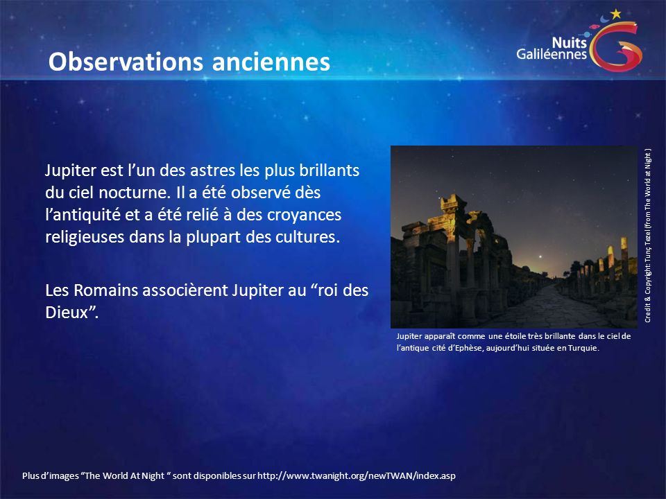 Observations anciennes